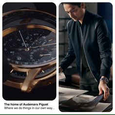 It is in the heart of the vallée de Joux, Switzerland, that everything started for Audemars Piguet in Born in Le Brassus, raised around the world. Audemars Piguet Price, Swiss Luxury Watches, Brand Campaign, Beautiful Watches, Chronograph, Watches For Men, Fashion Accessories, Leather Jacket, Handsome