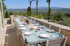 10 bed Farmhouse in Gordes - 8734328 - Le Mas de Belle Combe Table Settings, Farmhouse, Houses, Big, Holiday, Homes, Vacations, Place Settings, Holidays