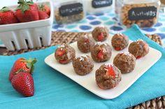 no-bake strawberry vanilla balls