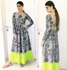 Excited to share this item from my shop: VeroniQ Trends- New Bollywood Style Pure Crystal Silk with Digital Print Floral Pattern Dress, Kurti,Long dress Fully Stitched Source by sushanva clothes dresses Indian Designer Outfits, Indian Outfits, Designer Dresses, Trendy Dresses, Casual Dresses, Trendy Outfits, Long Dresses, Girls Dresses, Sewing Dress