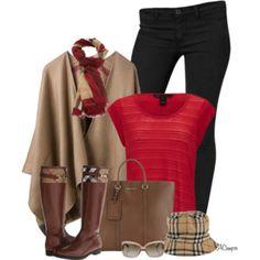 Poncho & Riding Boots