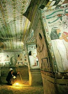Tomb of Sennefer, Mayor of Thebes in 15th century Egypt  National Geographic   March 1977