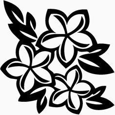 Plumeria Flower Die Cut Vinyl Decal PV1355