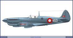 Supermarine Spitfire Mk PR XI 722 Eskadrille Danish Air Force (1955)