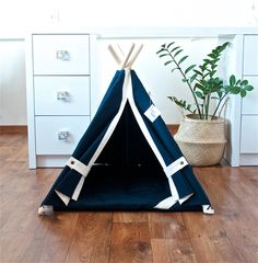 Two new teepees for pets in our shop. Kids Teepee Tent, Teepees, Outdoor Cats, Indoor Outdoor, Wooden Poles, Kidsroom, Play Houses, Hanging Chair, Kitten