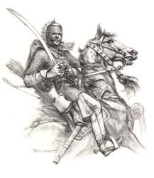 Pyatigorets, the beginning of the XVII century. Medieval Knight, Medieval Armor, Knight Drawing, League Of Angels, Pencil Art Drawings, My Drawings, Japanese Oni, Arabian Art, Comic Book Characters
