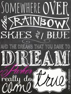 Personalized Somewhere over the Rainbow Canvas by MadiKayDesigns, $69.99