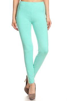 263e3947c718 Leggings Depot Ultra Soft Basic Solid Plain Best SELLER Leggings Pants (One  Size (Size