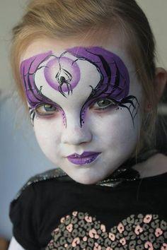 Face Painting Halloween Kids, Halloween Makeup For Kids, Kids Makeup, Scary Makeup, Halloween Masks, Scary Halloween, Witch Face Paint, Pi Art, Make Up Art