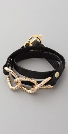 Leather Wrap Bracelet. Gorjana. $49. To wear whilst dancing...
