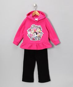 Take a look at this Pink Princess Hoodie & Pants - Toddler by Disney on #zulily today!