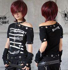 FASHION punk skull visual kei top skull Rock t-shirt cool design S M L FREE SHIP