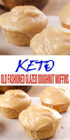 Easy low carb Old Fashioned Glazed Doughnut Muffin everyone loves! Perfect keto dessert, keto breakfast, treat or snack.Yummy almond flour keto muffin recipe that is great to make ahead Donut Muffins, Keto Donuts, Keto Pancakes, Low Carb Doughnuts, Egg Muffins, Keto Desserts, Keto Snacks, Quick Snacks, Dessert Recipes