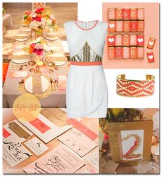 coral and gold wedding, my wedding colors <3
