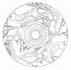 Mandalas Para Pintar: mandalas de pajaros