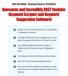 [FREE WSO] - FASTEST YOUTUBE SOFTWARE uncovers COMPETITORS Keywords in 7 Seconds!