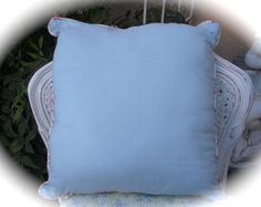 Toss Throw Pillow Shabby Antique Sampler Stitched Country Cottage Chic Cushion