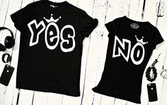 "T-shirts for couple ""YES NO"" by EnryPRINT on Etsy"