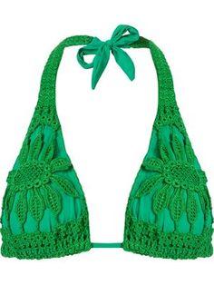 Sutiã de biquíni de crochet