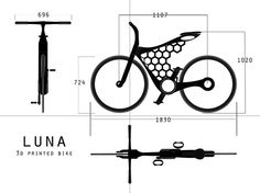 Luna 3D Printed Bicycle by Omer Sagiv on Tuvie | http://www.tuvie.com