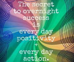 Fuelism Fuelisms : The secret to overnight success is every day positivity + every day action. Inspirational Quotes Pictures, Great Quotes, Quotes To Live By, Funny Quotes, Awesome Quotes, Inspirational Thoughts, Motivational Quotes, Karen Salmansohn, Life Words