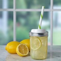 Enjoy your favorite cold drinks, smoothies or summer tea with the Ball® Mason Jar Sip & Straw Lids for wide mouth jars.