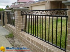 www.HireContractor.com Having metal fence around your house gives better security to your house. Added advantage is the  maintenance cost will also be low when compared with the wooden fence. Hire an expert contractor for perfect installation of fence.