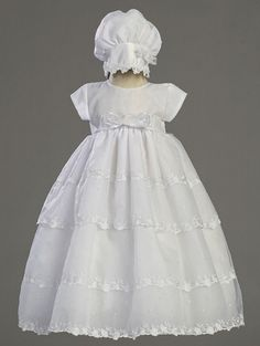 a68bbd684bd3 I really like this for the baby blessing dress. Baby Christening Dress