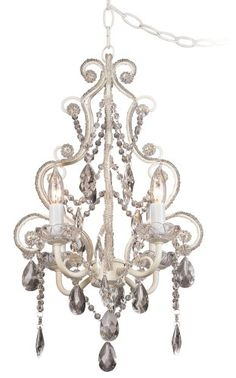 leila white clear swag plugin chandelier 11 chandelier lamp and pedestal tub