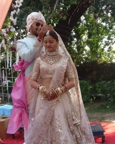 Rubina Dilaik Got Married & We're Crushing Over Her Bridal Look : Lehenga Deets ! Indian Bridal Outfits, Indian Bridal Lehenga, Indian Bridal Wear, Indian Dresses, Bridal Dresses, Desi Wedding, Wedding Pins, Wedding Ideas, Wedding Goals