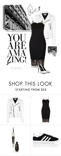 """""""In case you forgot to remind yourself today, you're amazing !"""" by blonde-bedu ❤ liked on Polyvore featuring Été Swim, Chanel, Yves Saint Laurent, Victoria Beckham, WALL, Monique Lhuillier, Lancôme, adidas and modern"""