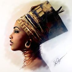 68 new Ideas for black art love queens products Black Love Art, Black Girl Art, Art Girl, Black Art Painting, Black Artwork, African American Art, African Art, African Prints, African Style