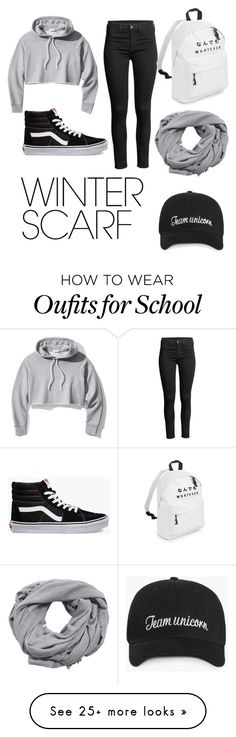 """Chill Vibes"" by katiethealien on Polyvore featuring Frame, MANGO, Vans and winterscarf"