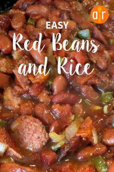 This is an easy and delicious take on a Louisiana classic that you can prepare and cook in 40 minutes! I use turkey kielbasa to cut down on the fat, but not the flavor. Easy Rice Recipes, Bean Recipes, Mexican Food Recipes, Crockpot Recipes, Cooking Recipes, Skillet Recipes, Mexican Dishes, Cookbook Recipes, Chili Recipes