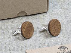 Wood Cufflinks. Personalized Cuff Links. Laser by TwinsWoodCompany