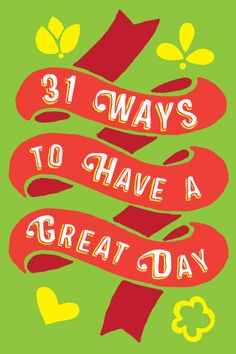 31 ways to have a great day. Mini-book of inspiration, cover designed by Design-Kink for AfterCare in Sydney.