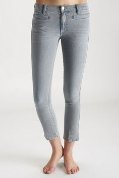 The #MiHJeans Paris cropped slim leg jean in Surf blue #MiH