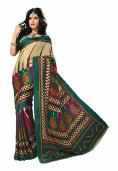 Indian Designer Wear Bhagalpuri Silk Green Printed Saree Fabdeal, http://www.amazon.de/dp/B00J0UWP0O/ref=cm_sw_r_pi_dp_YF6otb1TH6VCQ