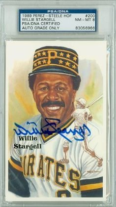Willie Stargell AUTO d.01 Perez-Steele HOF Pirates PSA 8 by Perez-Steele. $55.00. This vintage Perez-Steele HOF card was signed by Willie Stargell and authenticated by PSA - a leading 3rd party authenticator
