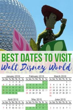 disney honeymoon Get the BEST dates to go to Disney World + a free printable calendar to help with your Disney vacation planning! The best time to go to Walt Disney World in 2019 based on crowds, cost, and weather. via thefrugalsouth Disney World Tipps, World Disney, Disney World Florida, Disney World Tips And Tricks, Disney Tips, Disney Fun, Disney Travel, Disney Parks, Disney World Cheap