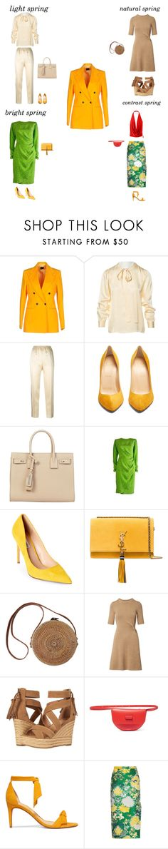 """Spring outfits"" by marina-butova on Polyvore featuring мода, MP di Massimo Piombo, Yves Saint Laurent, Gucci, Christian Louboutin, Steve Madden, UGG, Wandler, Alexandre Birman и Rochas"