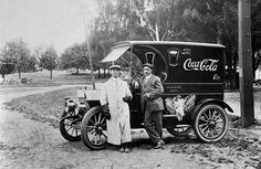 Coca-Cola delivery truck in 1910.