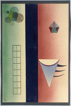 Painter Wassily Kandinsky. Divided. 1928