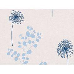 Avenzio fátyoltapéta, kék virágmintás  Obi 6400