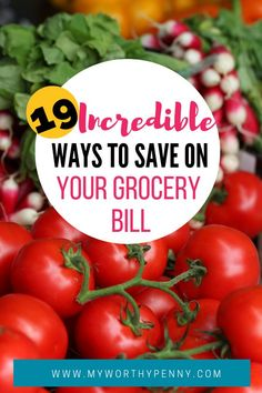 Grocery bill can take up a huge chunk of your monthly budget. Learn the incredible ways to save on your next grocery shopping. #saveongroceries #saveongrocerybill