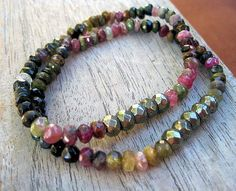 Tourmaline and Pyrite Beads HEALING for WOMEN by jodybrimhall, $35.00