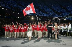Canadian athletes at the London Olympic Opening Ceremony. Go Canada Go!!!
