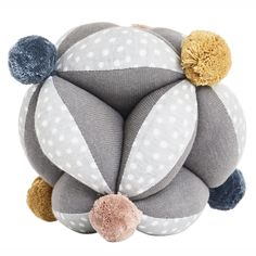 An adorable sensory baby toy. This juggling grab ball is made from organic cotton and will provide endless excitement for a curious baby exploring the worlds textures and sounds. Size: cm Organic Cotton Spot clean only See all products by OYOY Living Baby Sensory Toys, Baby Toys, New Baby Wishes, Changing Unit, Kids Room Wall Decals, Burke Decor, New Baby Gifts, Geometric Shapes, Bunt