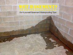 Do-it-yourself Basement Waterproofing Tips