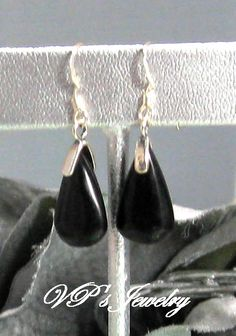 Black Onyx Teardrop Earrings